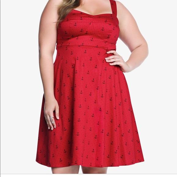 Torrid Dresses Plus Size Red Vintage Inspired Dress Poshmark